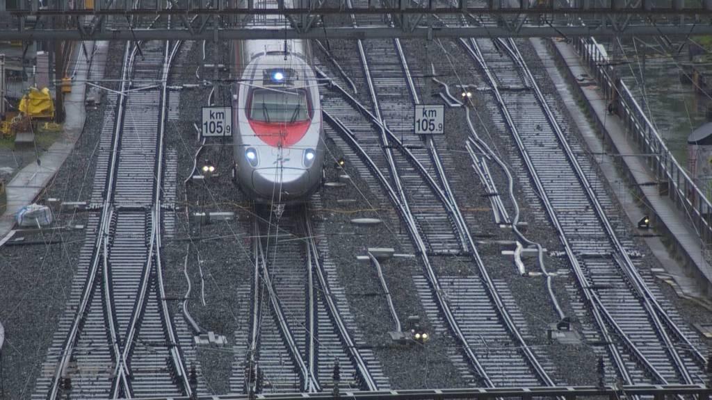 Zugausfälle wegen Bauarbeiten: SBB ersetzt über Auffahrt Weichen