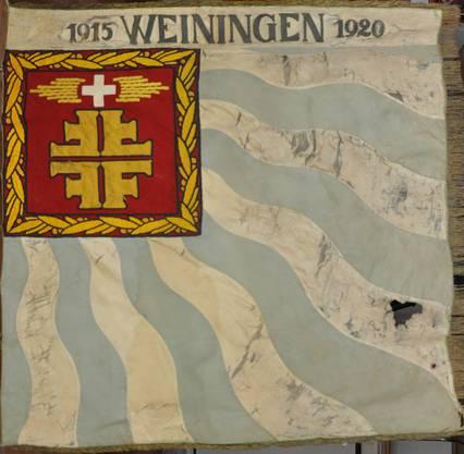 Rückseite der ersten Vereinsfahne aus dem Jahr 1920.