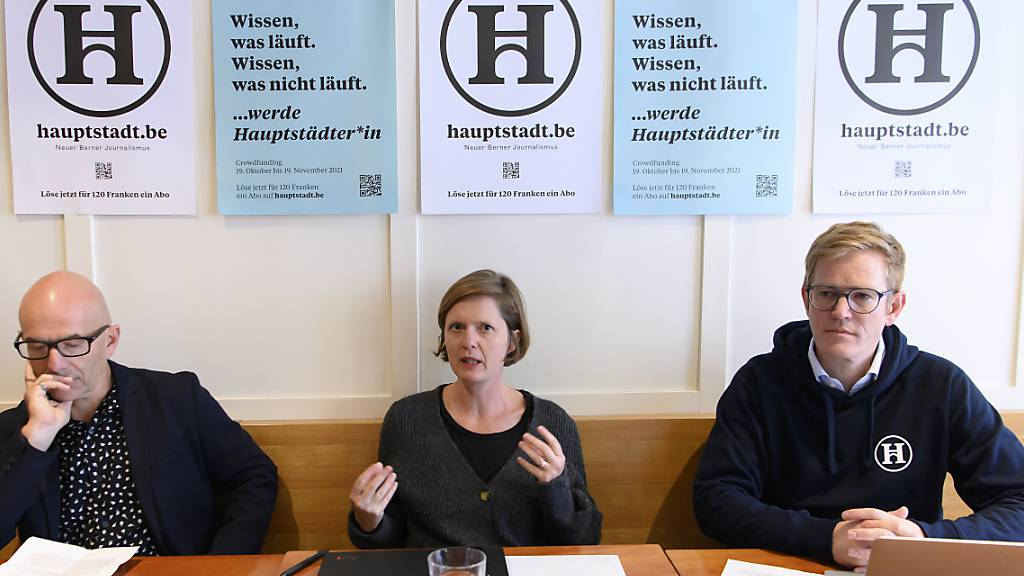 Geldsammelaktion für Berner Online-Portal «Hauptstadt» gestartet