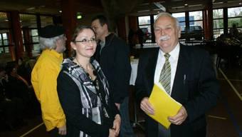 Max Heller nach der Ansprach am Neujahrsempfang 2011 mit Vizepräsidentin Sibylle Lüthi