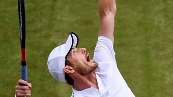 Andy Murray im Doppel-Einsatz von Wimbledon.