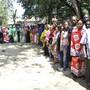 Wählerschlange am Donnerstag in Mombasa.
