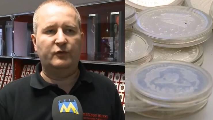 Der Aarauer Münzen-Experte Patrick Huber hat die gefunden Silbermünzen eingeschätzt.
