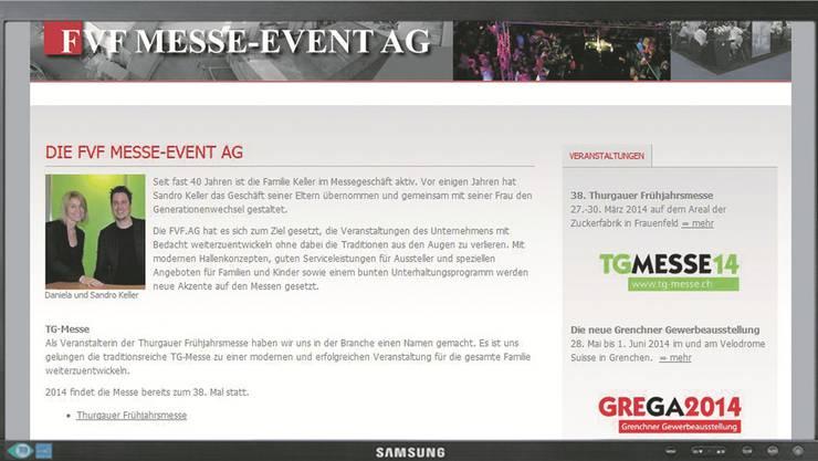 Bei der Stadt Grenchen freut man sich, dass mit der FVF Messe-Event AG eine mia-Nachfolgelösung gefunden werden konnte. screenshot szr