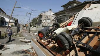 Die Stadt Tsukuba nordöstlich von Tokio wurde vom Tornado besonders hart getroffen