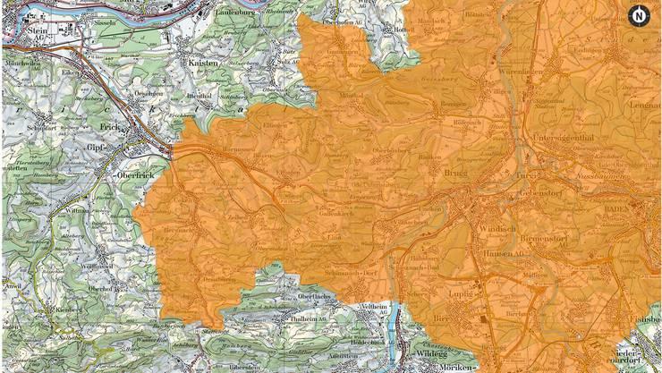 Die Region Baden/Wettingen/Zurzach ist ein Hochrisikogebiet für Zeckenstiche. Dies zeigt die aktuelle Karte des BAG. ZVG