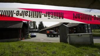 Stand im Zentrum der Kritik: temporäre Unterkunft für Asylsuchende in Eigenthal (Archiv)