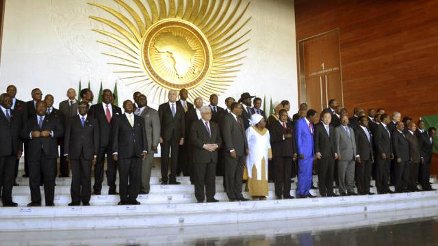 Mitglieder der Afrikanischen Union posieren für ein Foto (Archiv)