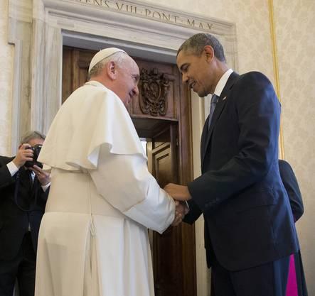 Präsident Obama besucht den Papst