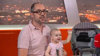 Ciccio und Raphael mit Gaia in der Sendung TalkTäglich. «Wir wollen zeigen, dass das im Bereich des total Normalen ist»