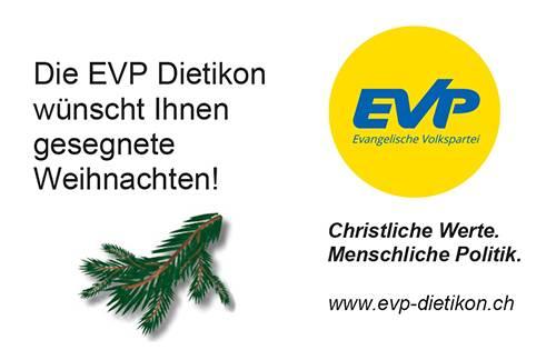 Weihnachtsgruss der EVP Dietikon
