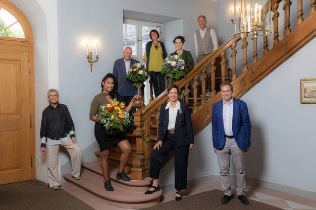 v.l.n.r. Michael Huber, La Nefera, Niggi Messerli, Tabitha Schuler, Monica Gschwind, Cornelia Huber, Hansjörg Betschart und Dominique Mollet.