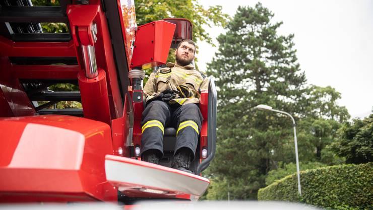 Impressionen der Hauptübung der Feuerwehr Solothurn beim Feuerwehrmagazin.