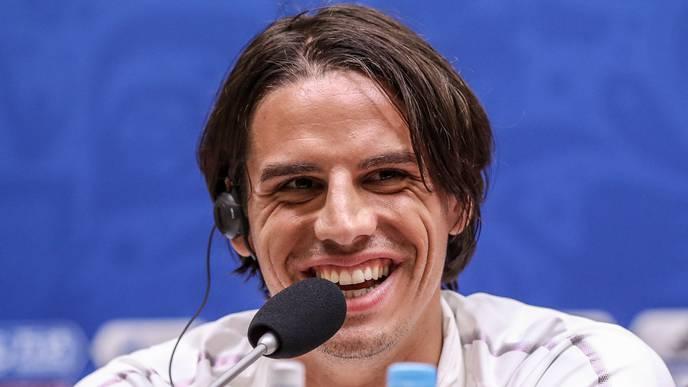 Yann Sommer: So wie man ihn kennt - gewohnt locker und gut gelaunt an Pressekonferenzen.