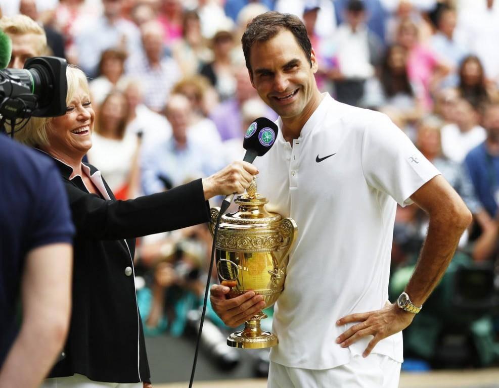 Roger Federer im Interview.