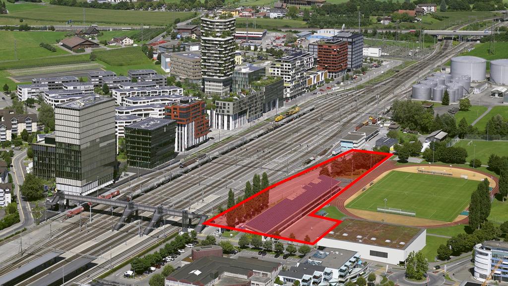 Neue Mittelschule am Bahnhof Rotkreuz