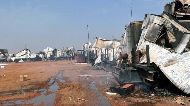 Zerstörung nach Kämpfen in der Stadt Heglig im Südsudan (Archiv)