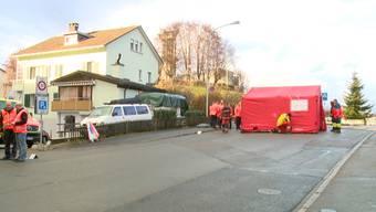 Die Unfallstelle am Dienstag und eine erste Einschätzung der Polizei.