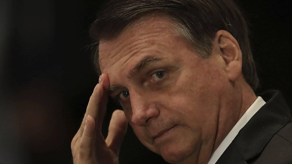 Reist nach Protesten nicht nach New York: Brasiliens rechtsgerichteter Präsident Jair Bolsonaro. (Archivbild)