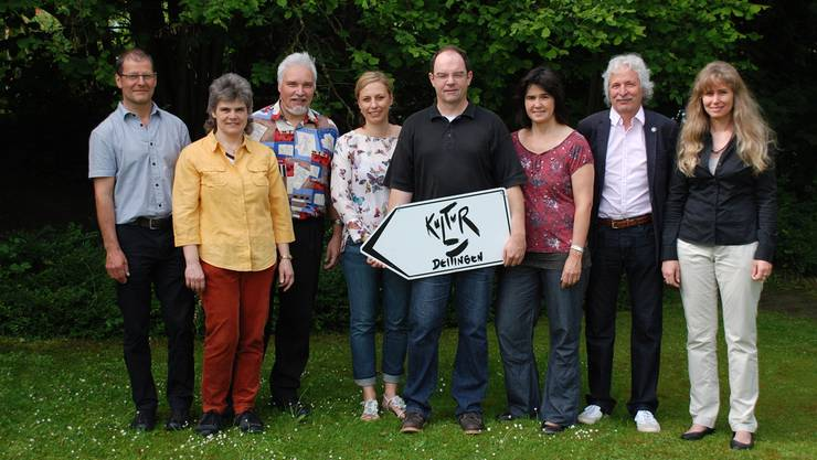 Der Vorstand des Kulturvereins Deitingen mit (von links) Josef Portmann, Caroline Beiner, Beat Beiner, Corinne Welzenbach, Anton Däppen, Sibylle Hofmann, Präsident Markus Flury und Anne Däppen.