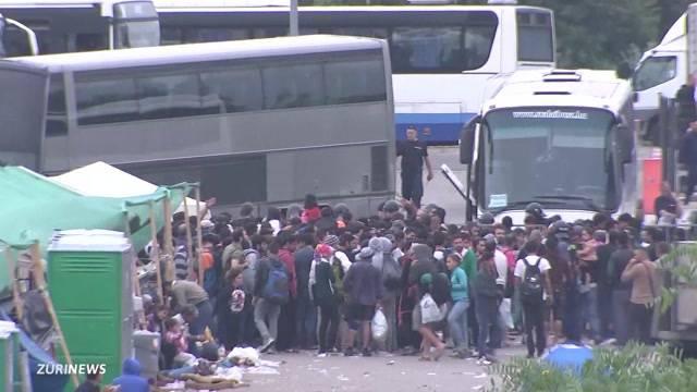 Flüchtlingsstrom aus Budapest
