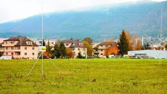 Nachbarn: Der Neubau der Landi stösst an die Wohnzone. Konflikte sind vorprogrammiert. (Kaspar Haupt)