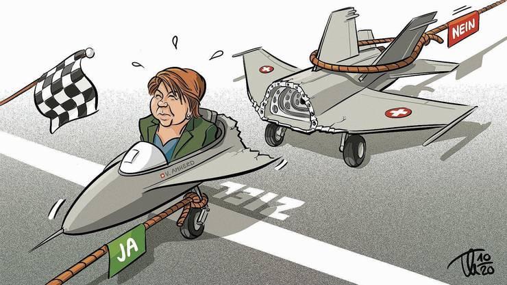 Beinahe wäre Viola Amherds Kampfjet-Vorlage an der Urne zerbrochen.