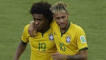 Kommt Willian (links) für den verletzten Neymar zum Einsatz?