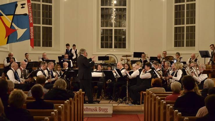 Schwierige Stücke wie die Ouvertüre zu Leonard Bernsteins «Candide» meisterte die Stadtmusik Brugg gekonnt. Der Start ins 2019 mit dem Jahreskonzert in der Stadtkirche ist klar gelungen.