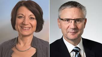 Ganz links und ganz rechts: Yvonne Feri und Andreas Glarner.