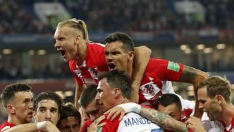 Grosse Freude bei den kroatischen Spielern nach dem 2:0-Sieg gegen Nigeria.