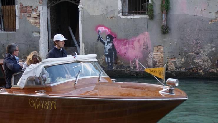 Diesmal Venedig: Der Streetart-Künstler Banksy teilt auf den Sozialen Medien mit, wieder ein Kunstwerk geschaffen zu haben.