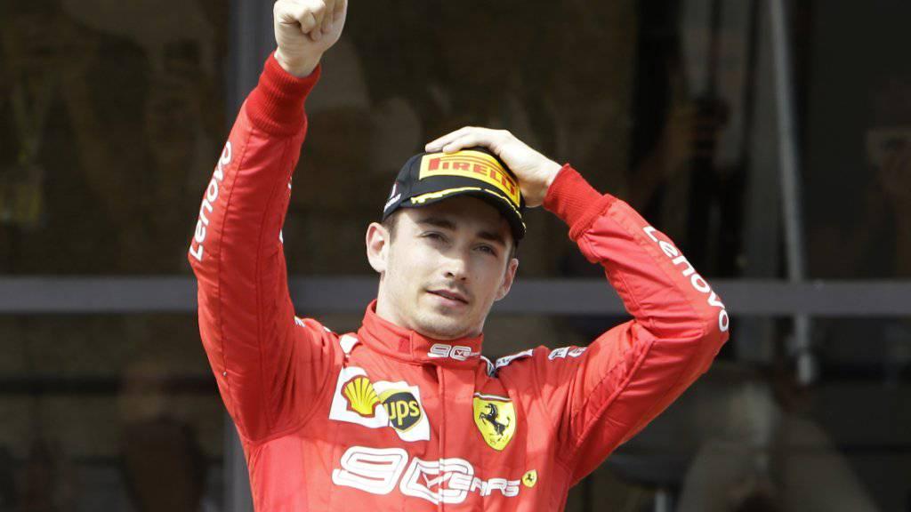 Nimmt den Grand Prix von Österreich am Sonntag in Spielberg aus der Pole-Position in Angriff: Ferrari-Fahrer Charles Leclerc