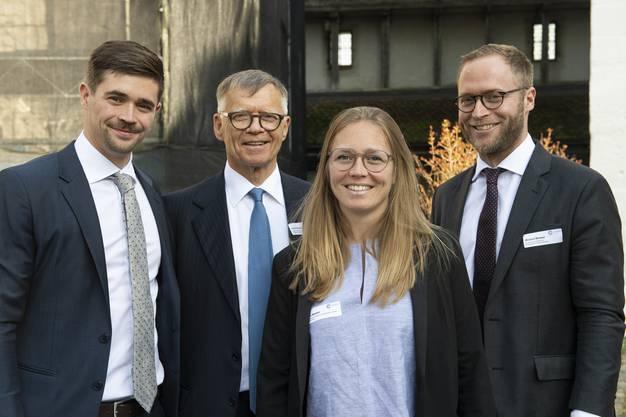 Familienpower im Verwaltungsrat (v.l): Florian Wanner (Geschäftsführer Radio), Verleger und Vater Peter Wanner, Anna Wanner (Co-Leiterin Inland CH Media), Michael Wanner (Geschäftsführer watson.ch).