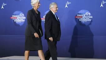 IWF-Chefin Christine Lagarde und EZB-Präsident Jean-Claude Trichet in Marseille