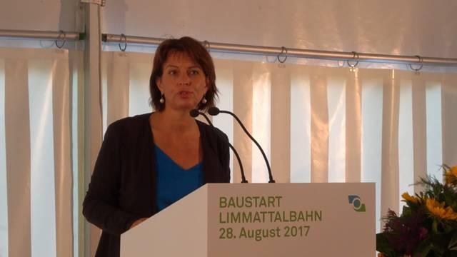 Spatenstich Limmattalbahn: Die Rede von Bundespräsidentin Doris Leuthard.