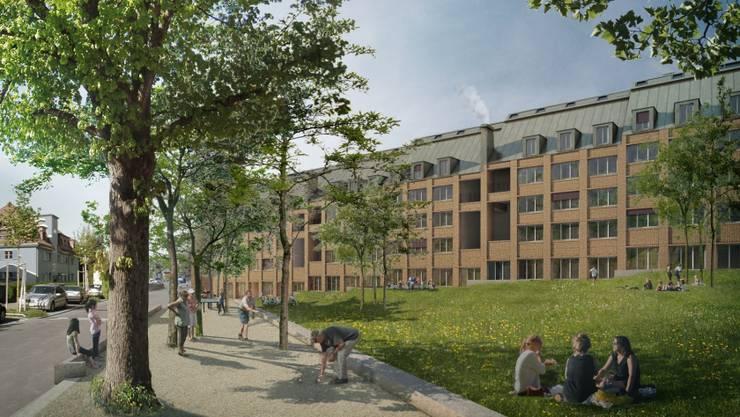So sehen die geplanten Studentenwohnungen von aussen aus.