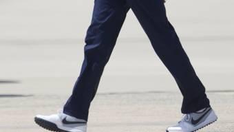Der Präsident als Markenbotschafter: Obama trägt Nike-Schuhe