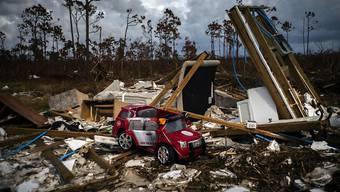 """Auf den Bahamas zertrümmerte Hurrikan """"Dorian"""" Anfang September ganze Wohnquartiere."""