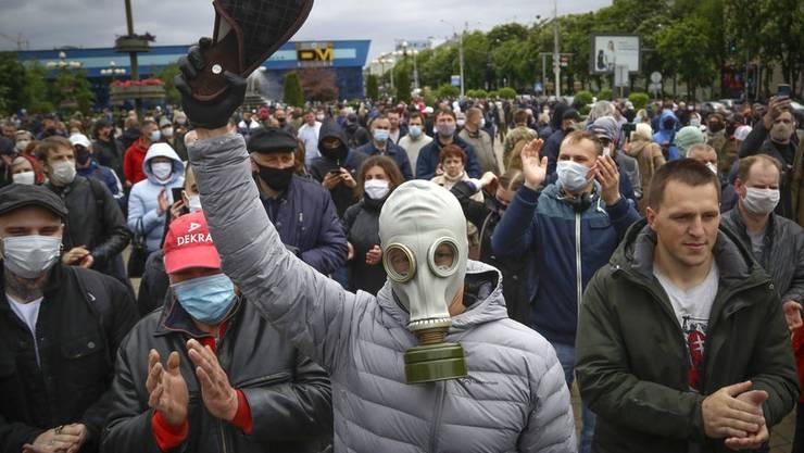 Proteste gegen die Präsidentschaftswahl in Weissrussland am 9. August treiben die Menschen auf die Strasse.