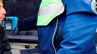 Alkoholkontrolle: Der Sattelschlepper-Fahrer hatte 2,6 Promille im Blut.