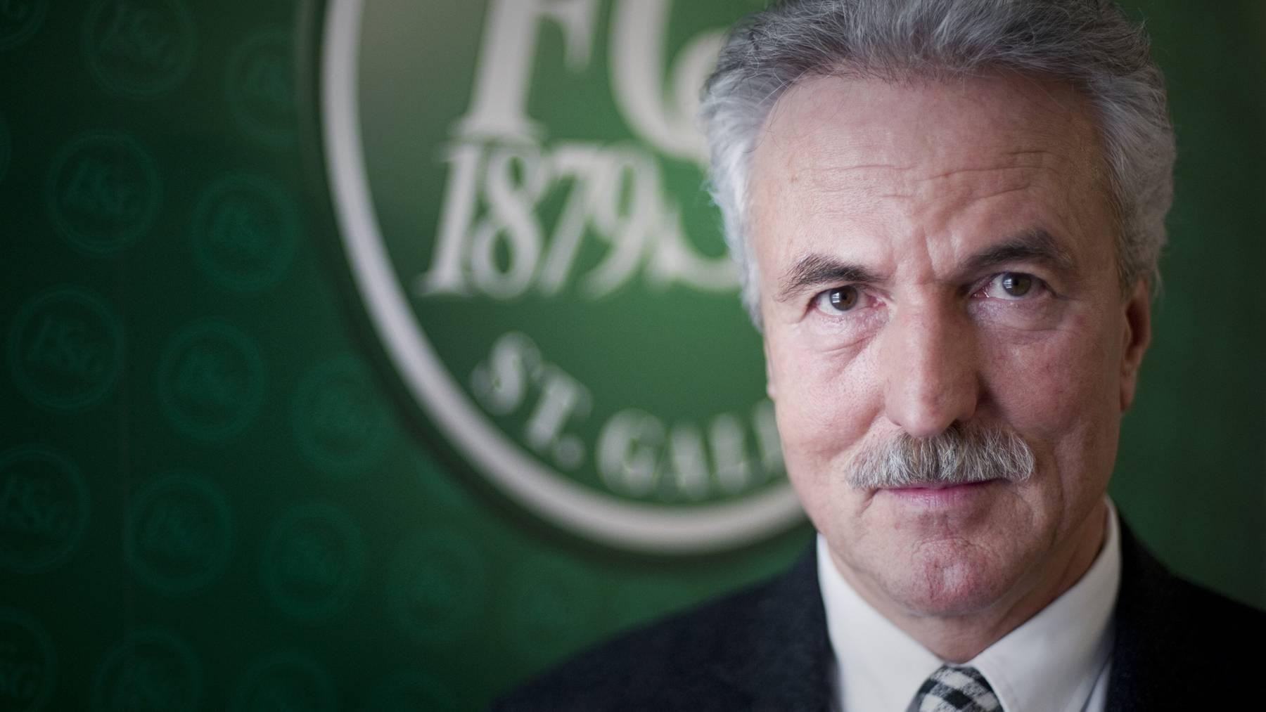 Er hat den FCSG finanziell auf gesunde Beine gestellt: Nun sucht Dölf Früh einen Nachfolger.