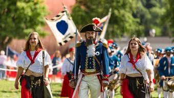 In den Reihen der Lenzburger Freischaren- und Kadettenkader kam es zu einem Erneuerungsschub. (Bild vom Freischarenmanöver am Jugendfest 2018)