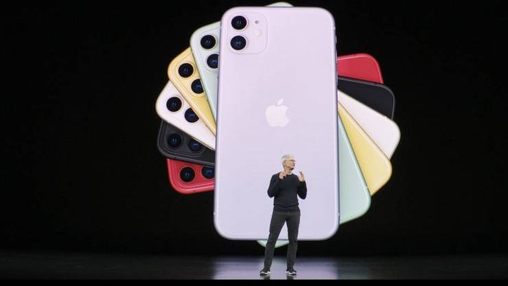 Das iPhone 11 gibt es in sechs Farben, darunter Grün.