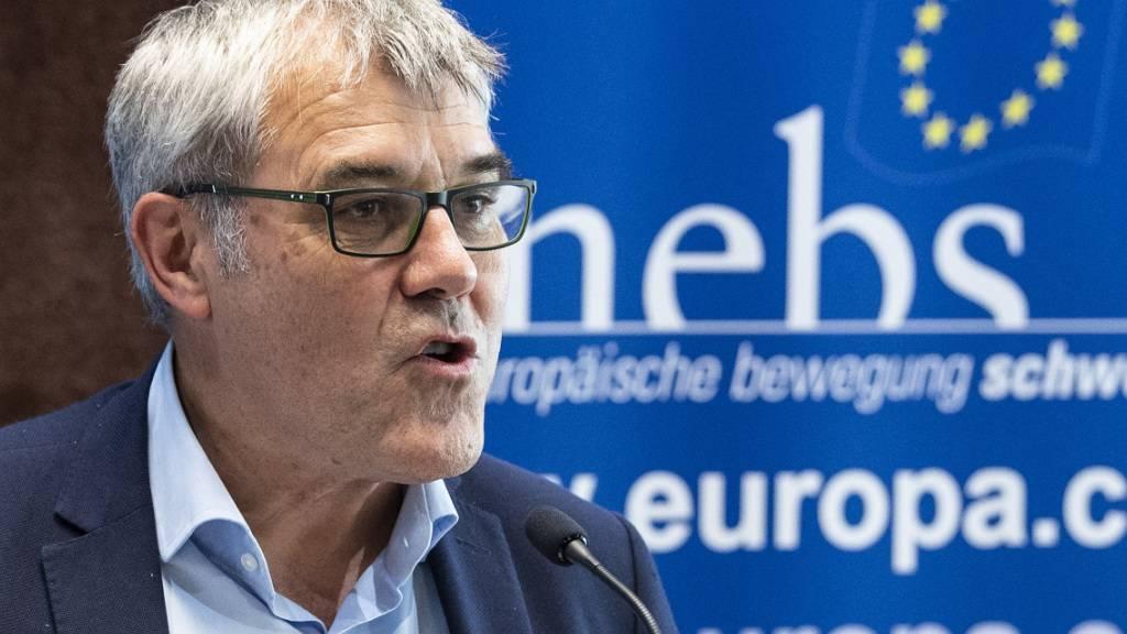 Eric Nussbaumer an der Nebs-Generalversammlung in Bern, wo er zum neuen Präsidenten gewählt wurde.