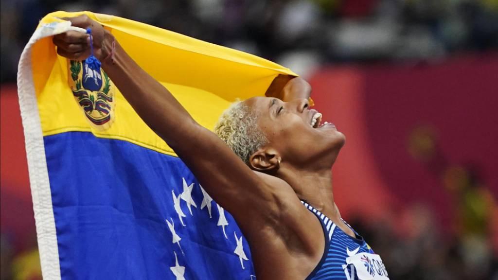 Den alten Weltrekord pulverisiert: Dreispringerin Yulimar Rojas aus Venezuela