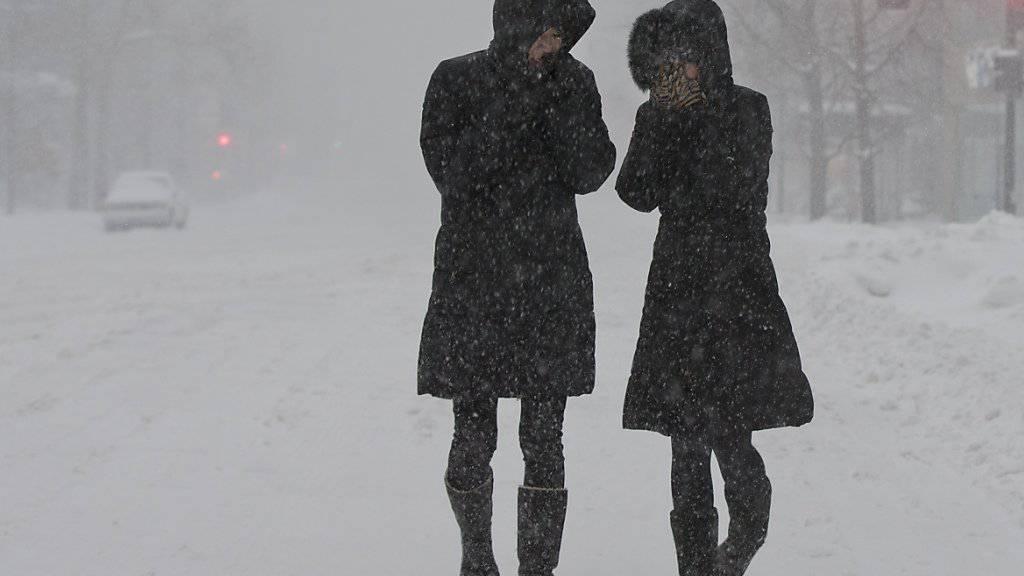 Schneefall in Tokio.