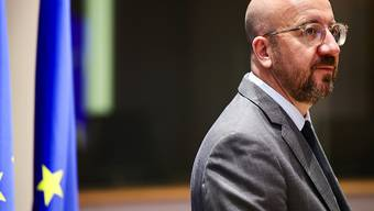Charles Michel, Präsident des Europäischen Rats, trifft zu einer Videokonferenz ein. Foto: Olivier Matthys/AP Pool/dpa