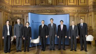 Sie sind legendär, die Gruppenbilder des Bundesrates. Auch die neu bestückte Basler Exekutive steht der Landesregierung in nichts nach...