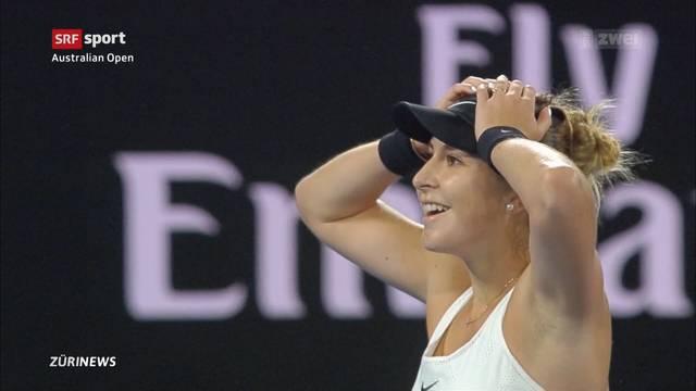 Belinda Bencic gewinnt in Australien